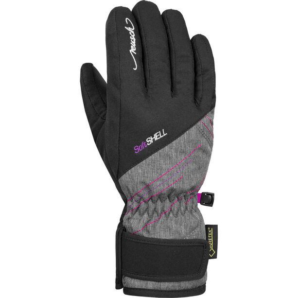 Reusch Brita GTX Gloves Kinder black/black melange/pink glo