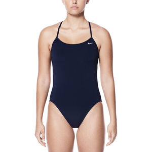 Nike Swim Poly Core Solid Cut-Out One Piece Damen midnight navy midnight navy