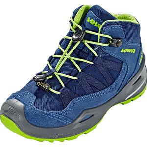 Lowa Robin GTX QC Schuhe Kinder blue/lime blue/lime