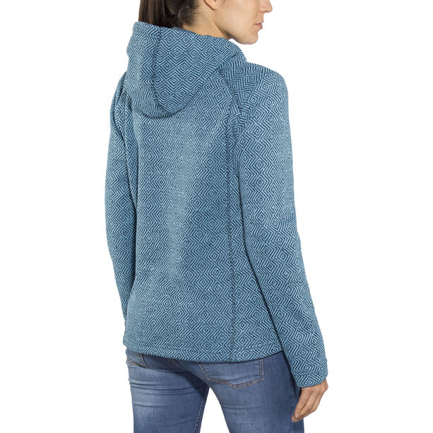 High Colorado Bergamo Strickfleecejacke Damen petrol