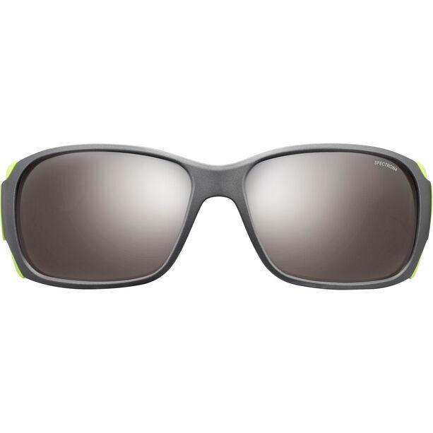 Julbo Montebianco Spectron 4 Sunglasses matt black/lime green-brown flash silver