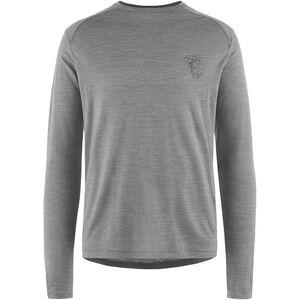 Klättermusen Eir Rain Langarm T-Shirt Herren grey melange grey melange