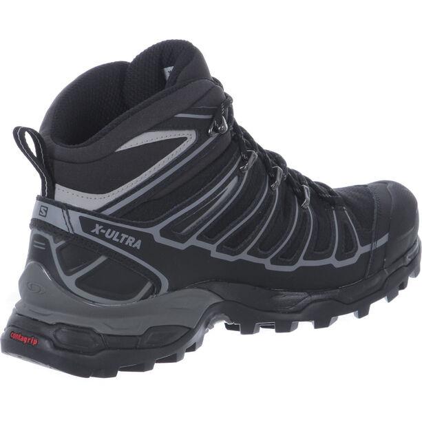 Salomon X Ultra Mid 2 Spikes GTX Schuhe Herren black/black/aluminium