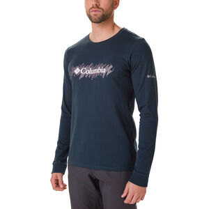 Columbia Columbia Lodge Langarm Graphic T-Shirt Herren night shadow/squiggle night shadow/squiggle
