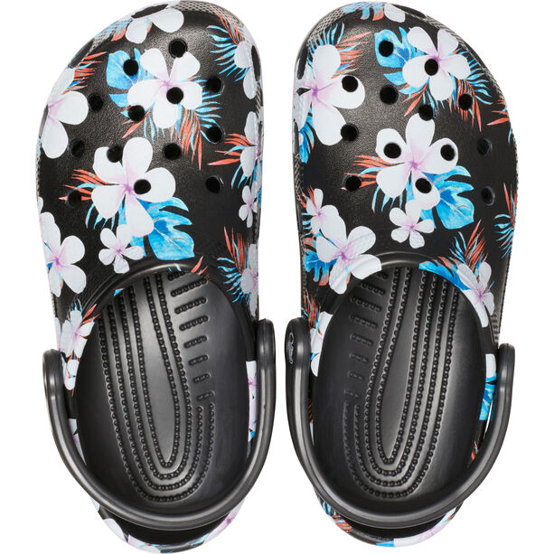 Crocs Classic Seasonal Graphic Clogs black/floral