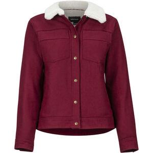 Marmot Ridgefield Sherpa Lined Langarm Shirt Damen claret claret
