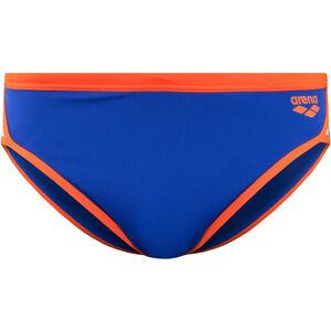arena Team Stripe Brief Herren neon blue/nectarine