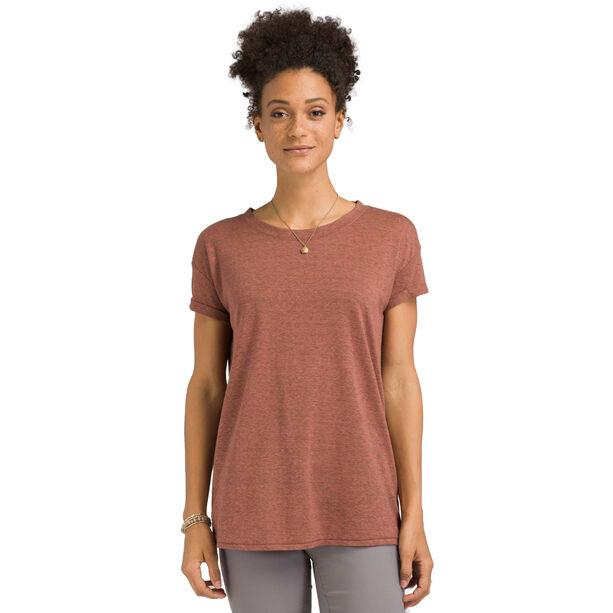 Prana Cozy Up T-Shirt Damen chai heather