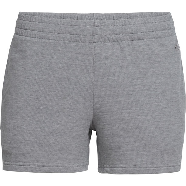 Icebreaker Momentum Shorts Damen fossil/snow heather
