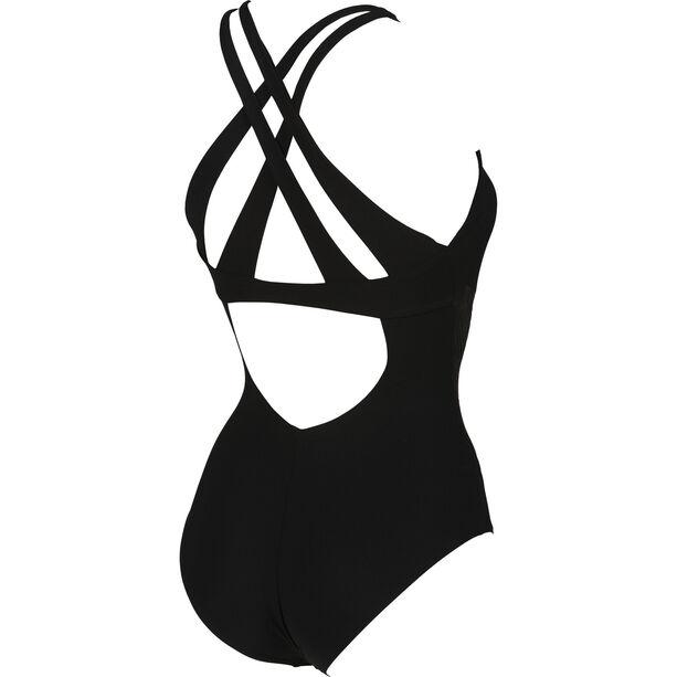 arena Maia Criss Cross Back C-Cup One Piece Swimsuit Damen black-black