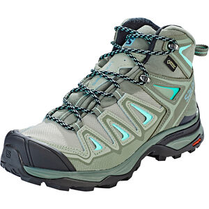 Salomon X Ultra 3 Mid GTX Shoes Damen shadow/castor gray/beach glass shadow/castor gray/beach glass