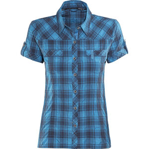 Bergans Leknes SS Shirt Damen navy/light sea blue charcoal