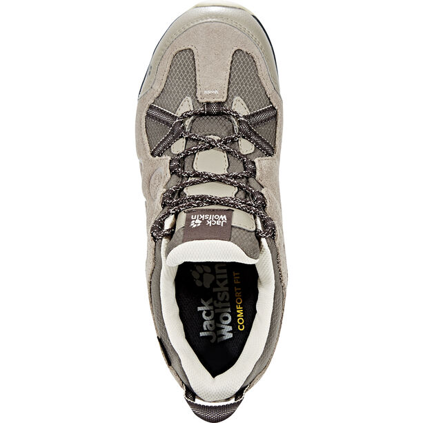 Jack Wolfskin Rocksand Texapore Low Shoes Damen siltstone