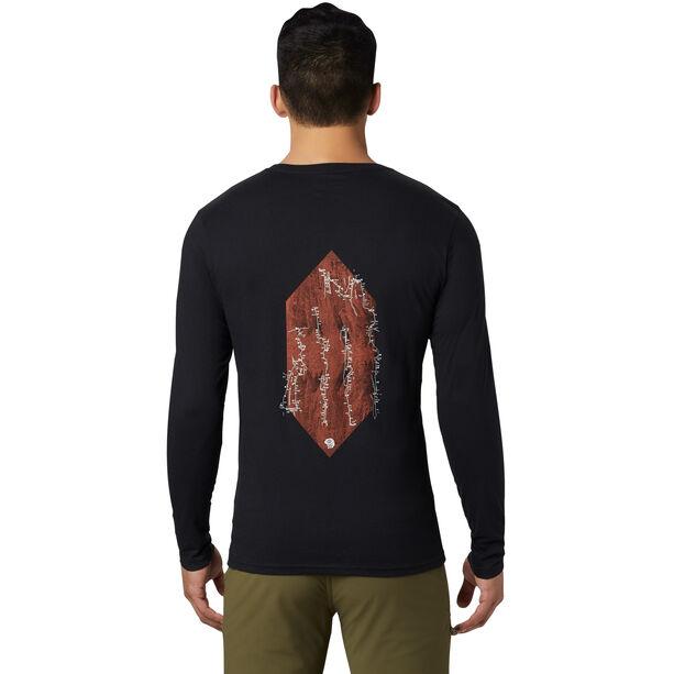Mountain Hardwear Vertical Oriented Langarmshirt Herren black