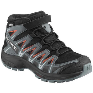 Salomon XA Pro 3D Mid CSWP Shoes Jugend black/stormy weather/cherry tomato black/stormy weather/cherry tomato