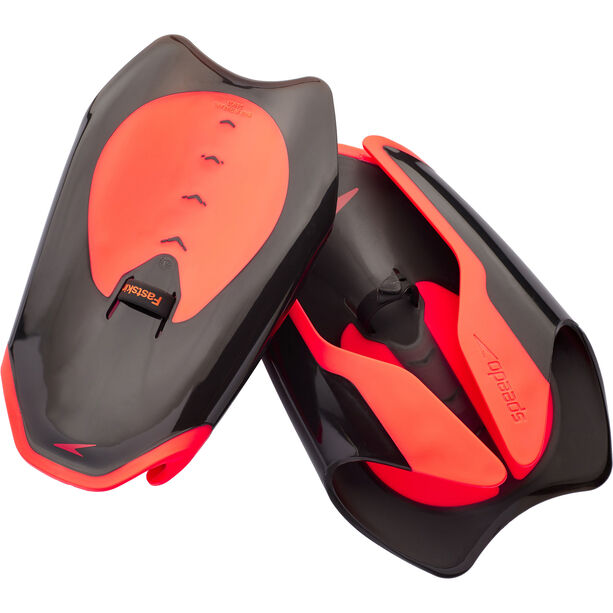 speedo Fastskin Hand Paddle black/siren red