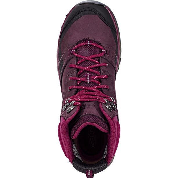 Keen Terradora Leather WP Mid Shoes Damen wine/rododendron