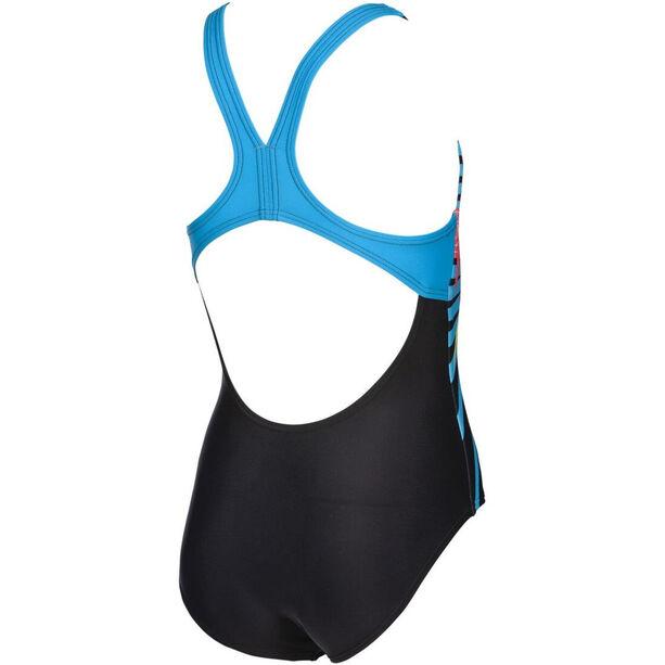 arena Vibes Swim Pro One Piece Badeanzug Mädchen black/turquoise