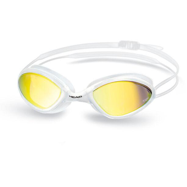 Head Tiger Race Mirrored LiquidSkin Goggles white - smoke