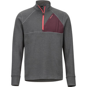 Marmot Hanging Rock 1/2 Zip Herren slate grey/burgundy slate grey/burgundy