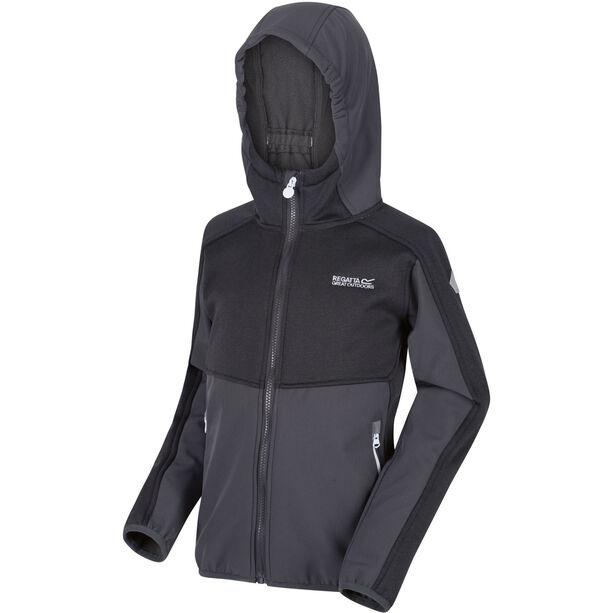 Regatta Bracknell II Soft Shell Jacke Kinder seal grey/seal grey/black
