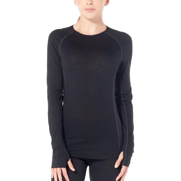Icebreaker 150 Zone LS Crew Shirt Damen black/mineral