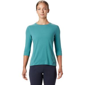 Mountain Hardwear Crater Lake 3/4 Rundhalsshirt Damen washed turquoise washed turquoise