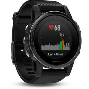Garmin fenix 5S GPS Multisportuhr mit schwarzem Armband saphir saphir