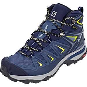 Salomon X Ultra 3 Mid GTX Shoes Damen crown blue/evening blue/sunny lime crown blue/evening blue/sunny lime