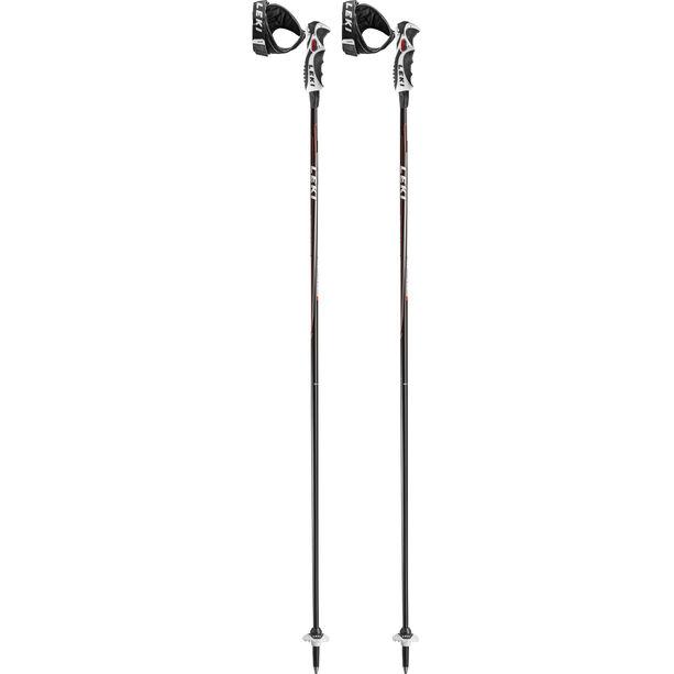 LEKI Carbon 14 S Ski Stöcke schwarz/anthrazit/weiß/rot