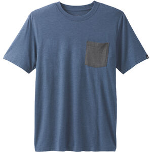 Prana Pocket Tee Herren denim heather denim heather