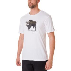 Columbia Muir Pass Kurzarm Graphic T-Shirt Herren white/buffalo camo white/buffalo camo