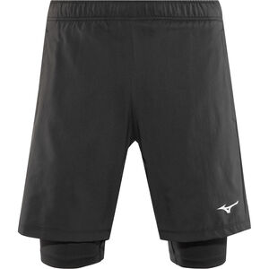 Mizuno Impulse 7.5 2in1 Shorts Herren black black
