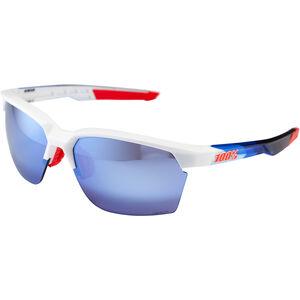 100% Sportcoupe Hiper Multilayer Mirror Glasses polished white/geo pattern polished white/geo pattern