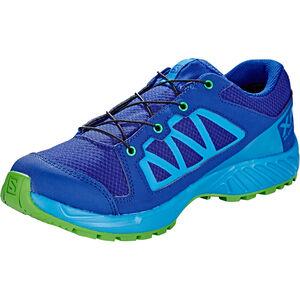 Salomon XA Elevate CSWP Shoes Kinder mazarine blue wil/indigo bunting/onlime lime