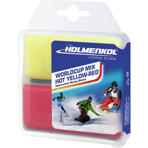 Holmenkol Worldcup Mix Hot Basis Wachs 2x35g yellow-red yellow-red