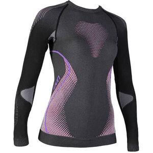 UYN Evolutyon Melange UW LS Shirt Damen anthracite melange/raspberry/purple anthracite melange/raspberry/purple