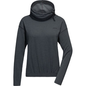 PYUA Bound Hooded Sweater Damen black black