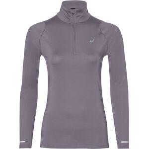 asics Thermopolis LS Half-Zip Hemd Damen lavender grey lavender grey