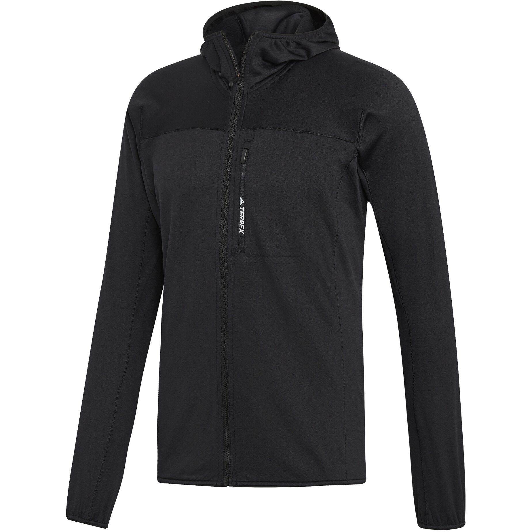 adidas TERREX TraceRocker Hooded Fleece Jacket Herren black