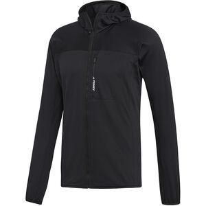 adidas TERREX TraceRocker Hooded Fleece Jacket Herren black black
