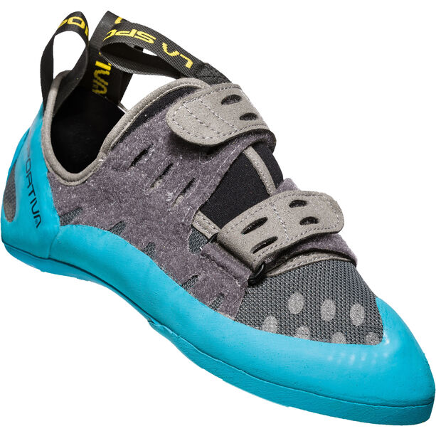 La Sportiva GeckoGym Climbing Shoes Herren carbon/tropic blue