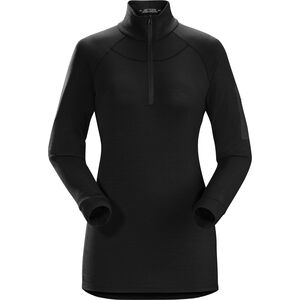 Arc'teryx Satoro AR Zip Neck Langarm Baselayer Damen black black