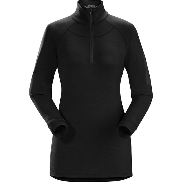 Arc'teryx Satoro AR Zip Neck Langarm Baselayer Damen black