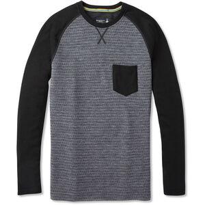 Smartwool Merino 250 Pocket Rundhals-Langarmshirt Herren medium gray tick stitch medium gray tick stitch