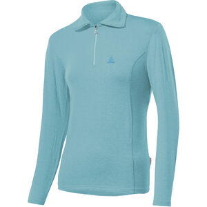 Löffler Basic Transtex Zip-Sweater mit Umlegekragen Damen angel blue angel blue