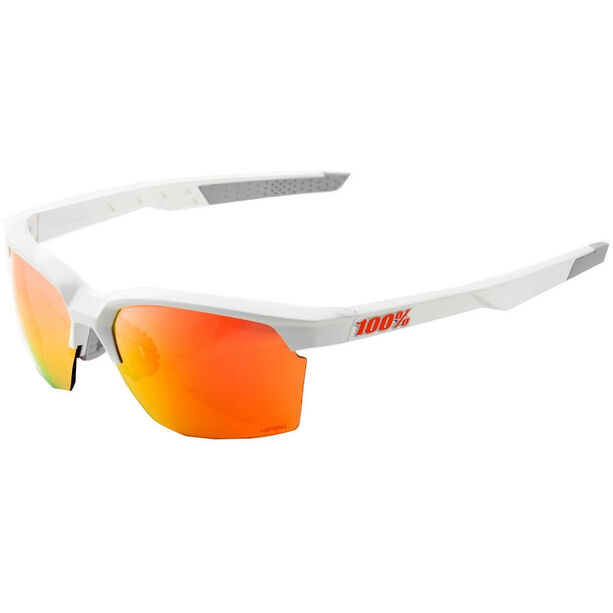 100% Sportcoupe Hiper Multilayer Mirror Glasses soft tact white