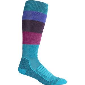 Icebreaker Ski+ Medium OTC Wide Stripe Socken Damen arctic teal arctic teal