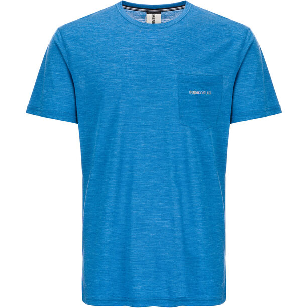 super.natural Movement T-Shirt Herren vallarta blue melange