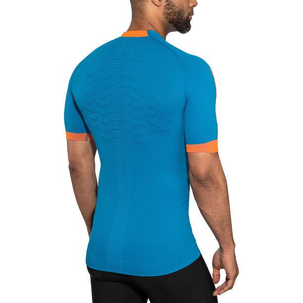 X-Bionic The Trick G2 Run Shirt SS Herren teal blue/dark ruby